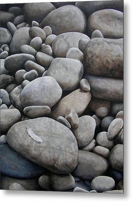 Riverbank Of Napo Metal Print by Laine Garrido