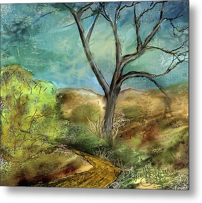 Metal Print featuring the painting Riverbed  by Annette Berglund