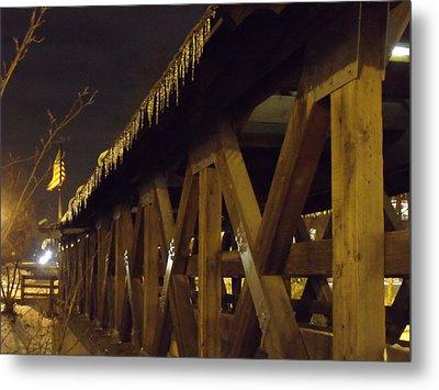 Riverwalk Bridge II Metal Print by Anna Villarreal Garbis
