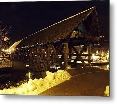 Riverwalk Bridge IIi Metal Print by Anna Villarreal Garbis