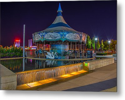 Riverwalk Carousel  Metal Print