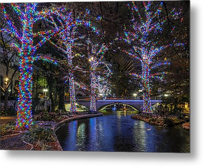 Metal Print featuring the photograph Riverwalk Christmas by Steven Sparks