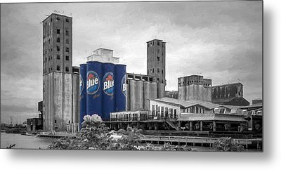 Riverworks Blue Metal Print