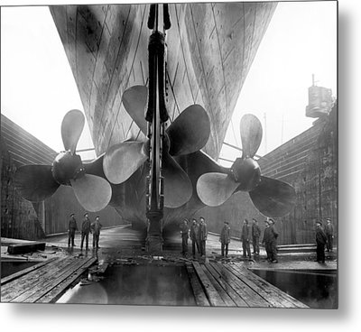 Rms Titanic Propellers Metal Print by War Is Hell Store