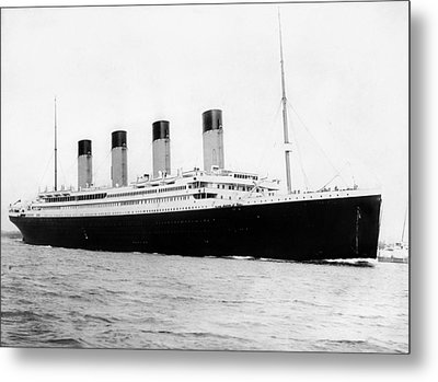 Rms Titanic Metal Print by War Is Hell Store