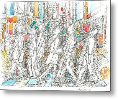 Road Crossing. 6 February, 2015 Metal Print by Tatiana Chernyavskaya