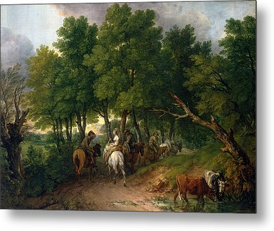 Road From Market  Metal Print by Thomas Gainsborough