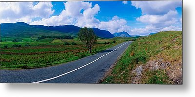 Road From Westport To Leenane, Co Mayo Metal Print by The Irish Image Collection