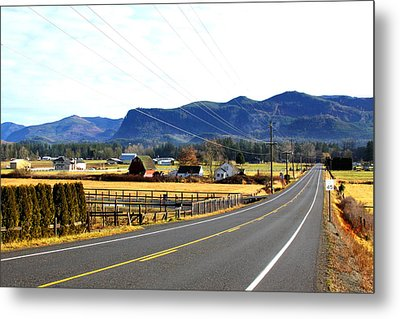 Road In The Mountains Metal Print by Sergey  Nassyrov