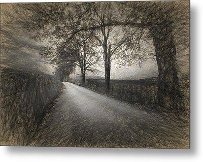 Road Not Traveled Iv Metal Print by Jon Glaser