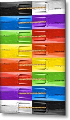 Road Runner Rainbow Metal Print by Gordon Dean II