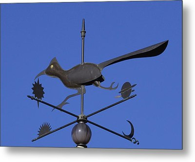 Metal Print featuring the photograph Road Runner Weather Vane by Joan Hartenstein