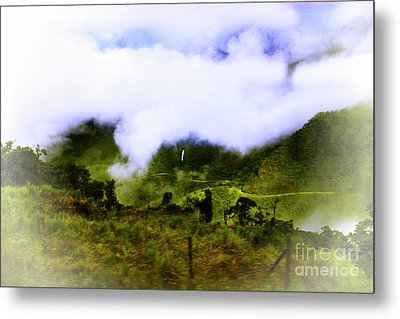 Road Through The Andes Metal Print by Al Bourassa