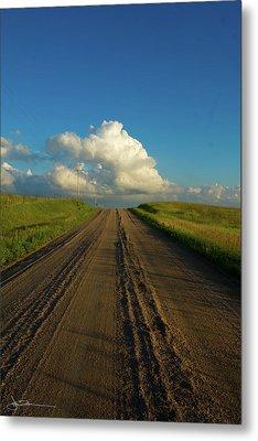 Road To Cumulus Metal Print