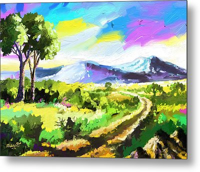 Road To The Hills Metal Print by Anthony Mwangi