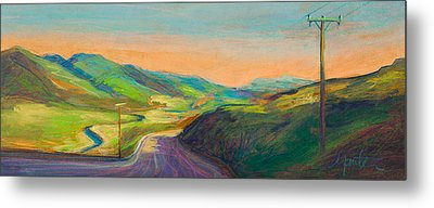 Road To Horse Tooth Metal Print by Athena  Mantle