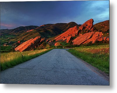 Metal Print featuring the photograph Road To Light by John De Bord