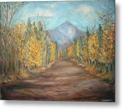 Road To Mountain Metal Print by Joseph Sandora Jr