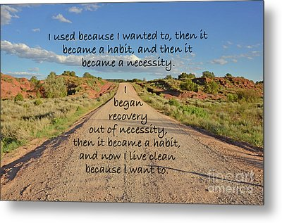 Road To Recovery Metal Print