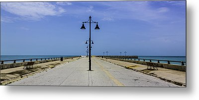 Metal Print featuring the photograph Road To The Sea by Paula Porterfield-Izzo