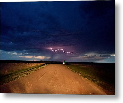 Road Under The Storm Metal Print