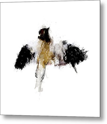 Roadkill A Mockingbird Metal Print
