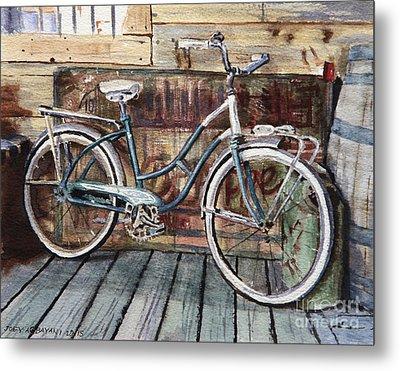 Roadmaster Bicycle Metal Print by Joey Agbayani