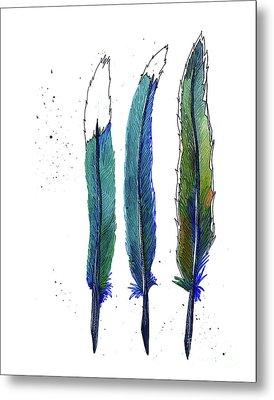 Roadrunner Feathers Metal Print
