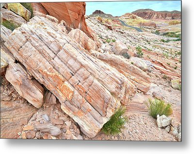 Metal Print featuring the photograph Roadside Sandstone In Valley Of Fire by Ray Mathis