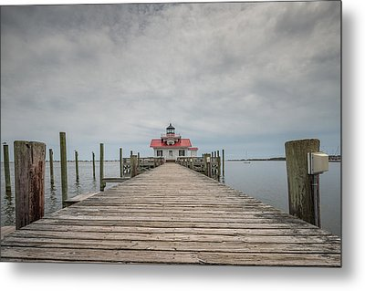 Outer Banks North Carolina Roanoke Marshes Lighthouse Metal Print by Rick Dunnuck