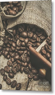 Roasted Coffee Beans In Close-up  Metal Print by Jorgo Photography - Wall Art Gallery