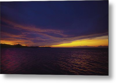 Roatan Sunset Metal Print by Stephen Anderson
