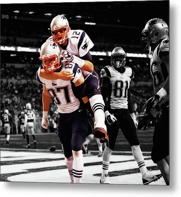 Rob Gronkowski And Tom Brady Metal Print