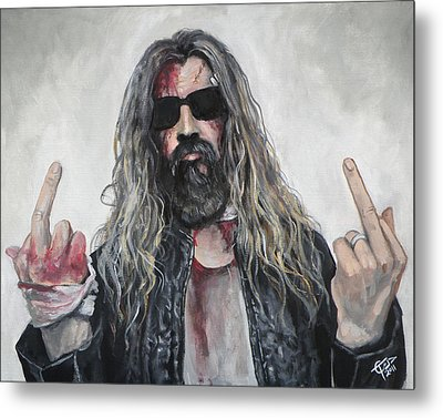 Rob Zombie Metal Print by Tom Carlton