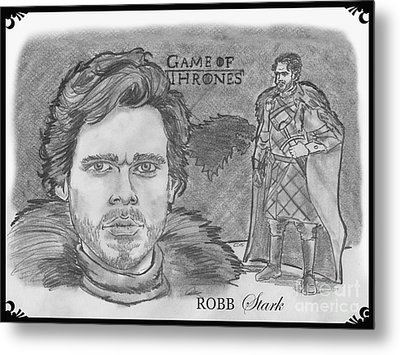 Robb Stark King Of The North Metal Print by Chris  DelVecchio