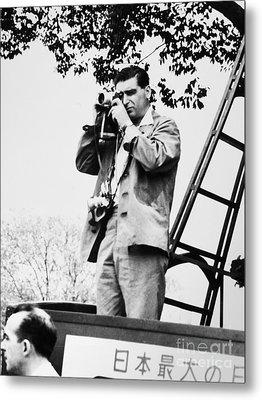 Robert Capa (1913-1954) Metal Print by Granger
