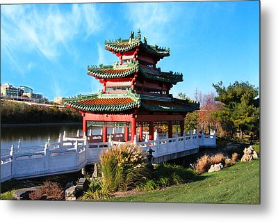 Robert D. Ray Asian Garden Metal Print by Kathy M Krause