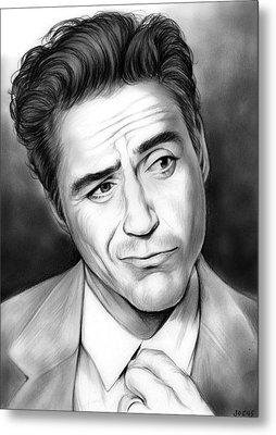 Robert Downey Jr Metal Print by Greg Joens
