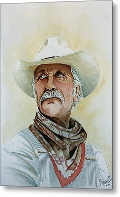 Robert Duvall As Augustus Mccrae In Lonesome Dove Metal Print by Jimmy Smith