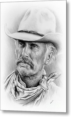 Robert Duvall Ver Two Signed Metal Print by Andrew Read