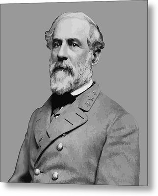 Robert E Lee - Confederate General Metal Print by War Is Hell Store