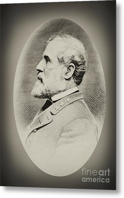 Robert E Lee - Csa Metal Print by Paul W Faust -  Impressions of Light
