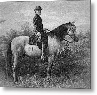Robert E Lee On His Horse Traveler Metal Print