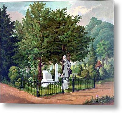 Robert E. Lee Visits Stonewall Jackson's Grave Metal Print