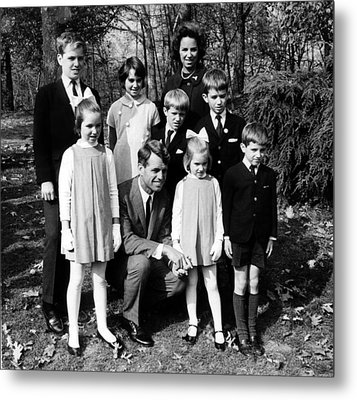 Robert F. Kennedy And Family, Top, L-r Metal Print by Everett