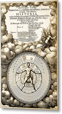 Robert Fludds Book On Metaphysics, 1617 Metal Print by Science Source