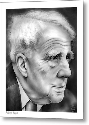 Robert Frost Metal Print by Greg Joens