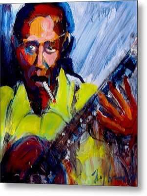 Metal Print featuring the painting Robert Johnson by Les Leffingwell