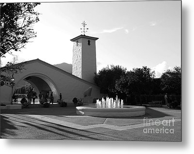 Robert Mondavi Napa Valley Winery . Black And White . 7d9029 Metal Print by Wingsdomain Art and Photography