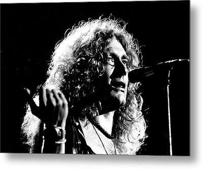 Robert Plant 1975 Metal Print by Chris Walter
